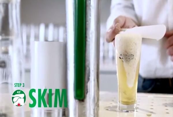 Heineken - Cinco passos para tirar o chopp perfeito