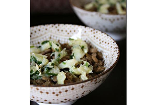 Lentilhas com lascas de bacalhau home - Receita diferente com Lentilhas