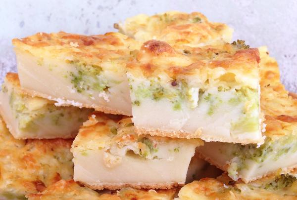Torta de brócolis home - Torta de Brócolis
