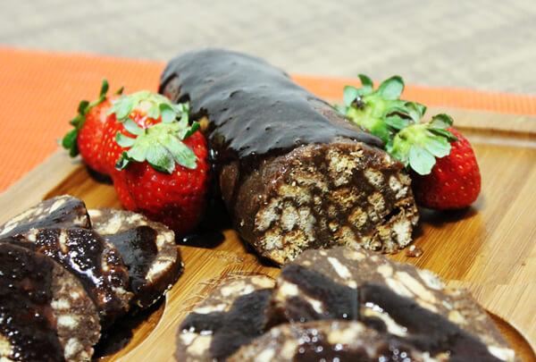Salame de chocolate1 - Receita de Salame de Chocolate