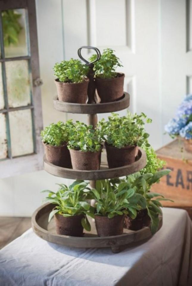 Horta em casa 11 - Horta em casa –boas ideias com toque especial na decoração
