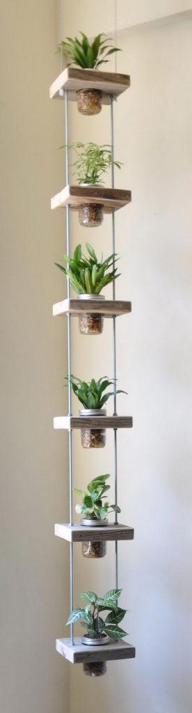 Horta em casa 3 276x1024 - Horta em casa –boas ideias com toque especial na decoração