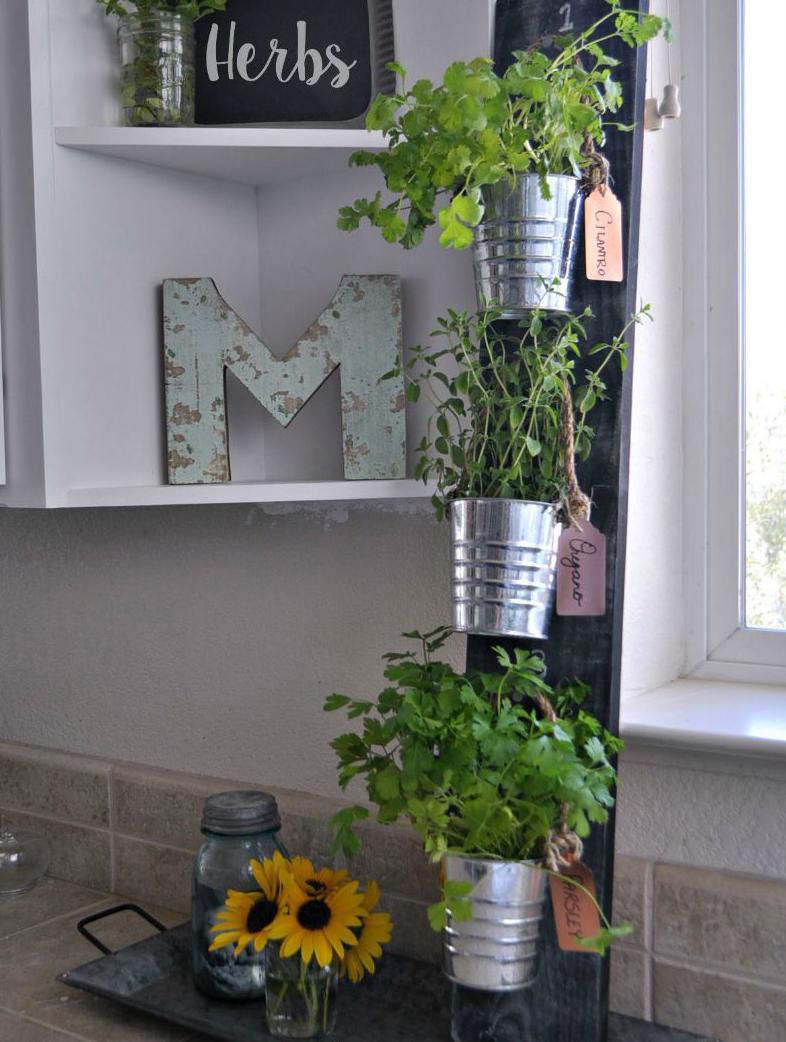Horta em casa 4 - Horta em casa –boas ideias com toque especial na decoração