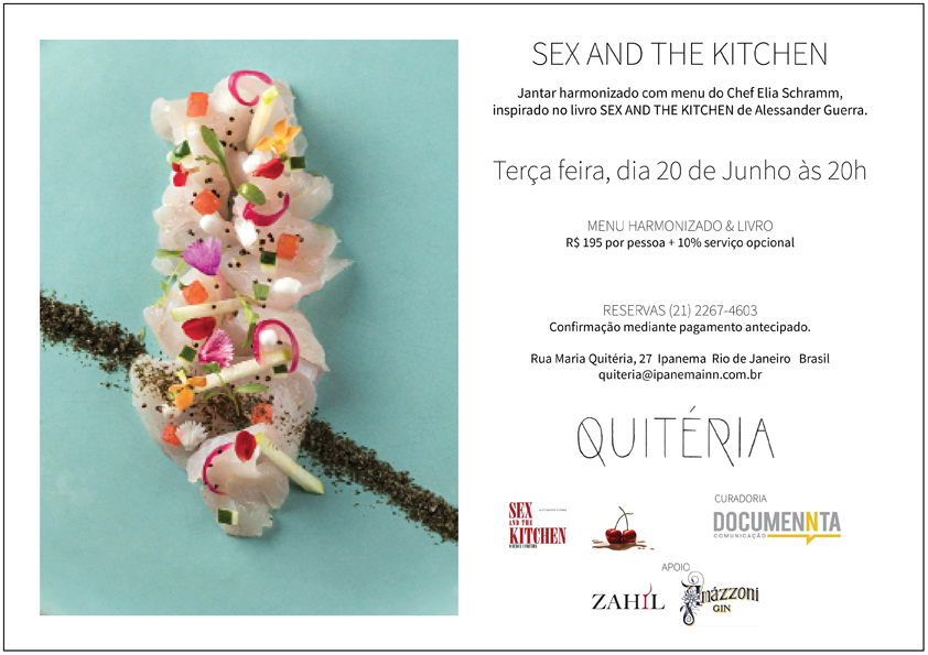 Quitéria Convite Sex and the Kitchen com foto  - Romance Sex and the Kitchen inspira eventos no Rio