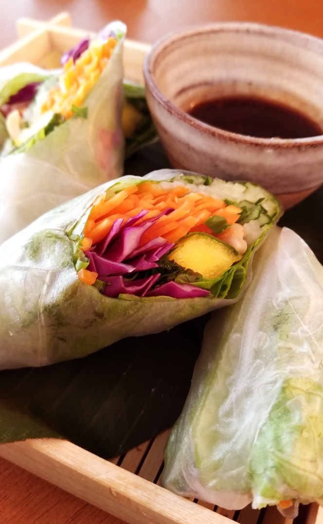 Sushimar Vegano  Rolinho Vietnamita - Sushimar Vegano