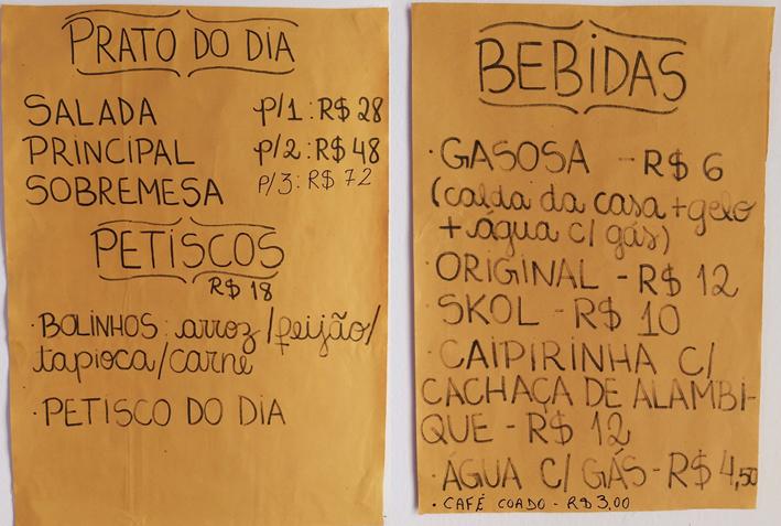 Kitanda Brasil cardapio completo - Kitanda Brasil