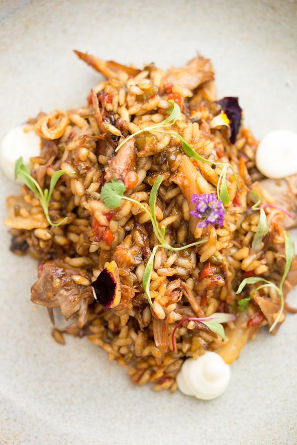Extasia restaurante  Arroz com kimchi pato e embutido 2 - Extásia restaurante