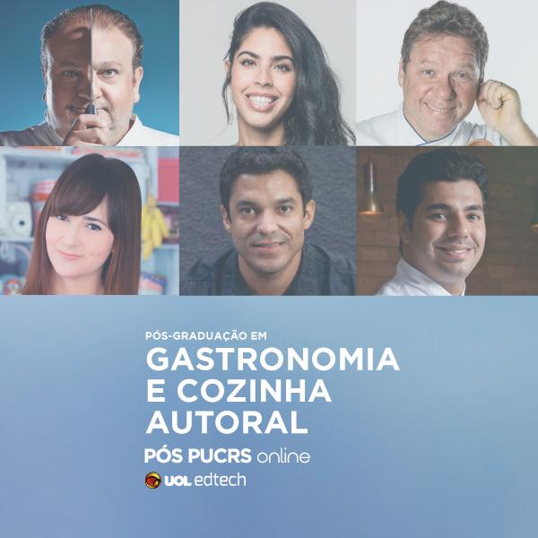 Instagram pos graduacao cozinha autoral pucrs online uol edtech - Pós-graduação em Gastronomia da PUCRS
