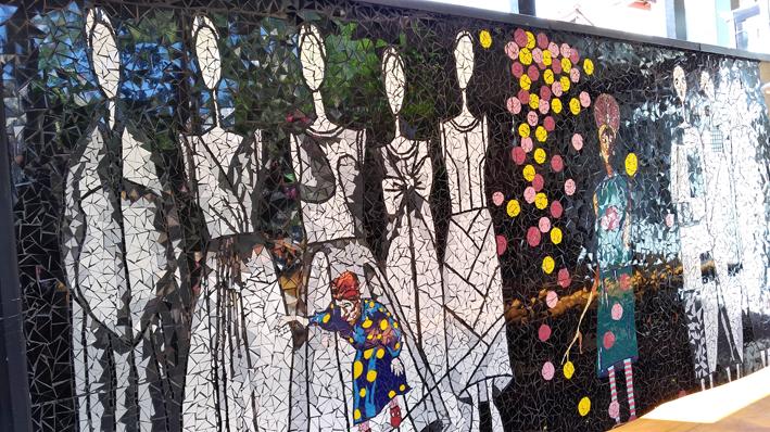 Gansaral  Casa de Cultura painel - Gansaral Café e Casa de Cultura no Campo Belo