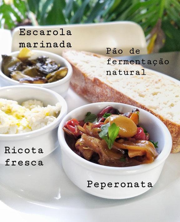 Restaurante Cepa  Trio de Acepipes - Restaurante Cepa