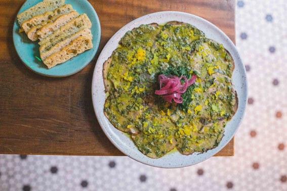 Teva Restaurante e Bar de Vegetais  Carpaccio de Cogumelo TEVA - Teva Restaurante e Bar de Vegetais